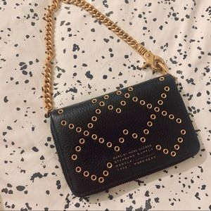 ✨Marc by Marc Jacobs Black Leather Studded Wallet